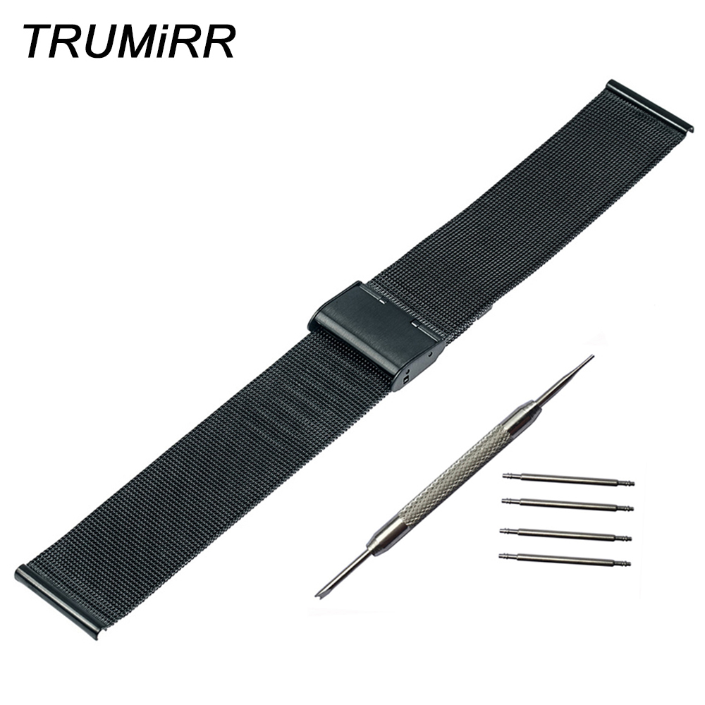 24mm Milanese Watchband for Sony Smartwatch 2 SW2 Mesh Stainless Steel Watch Band Bracelet Link Strap Black Rose Gold Silver top quality new stainless steel strap 18mm 13mm flat straight end metal bracelet watch band silver gold watchband for brand