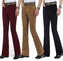 Männer Kommerziellen Casual Hosen Cord Ausgestelltes Hosen Männlichen Elastische Ausgestellte Hosen MB16305