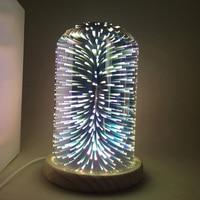 GERUITE 3D Glass Cover LED Night Light Bedroom Bedside Decoration Desk Lamps Mood Light Firework Romantic
