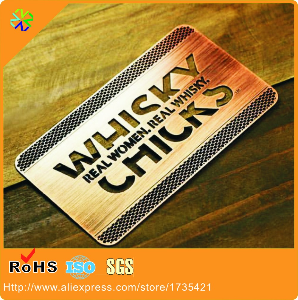 Gold Stainless Steel Metal Business Cards Metal Visiting Cards