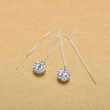 Модные серьги из стерлингового серебра 925 пробы с кристаллами