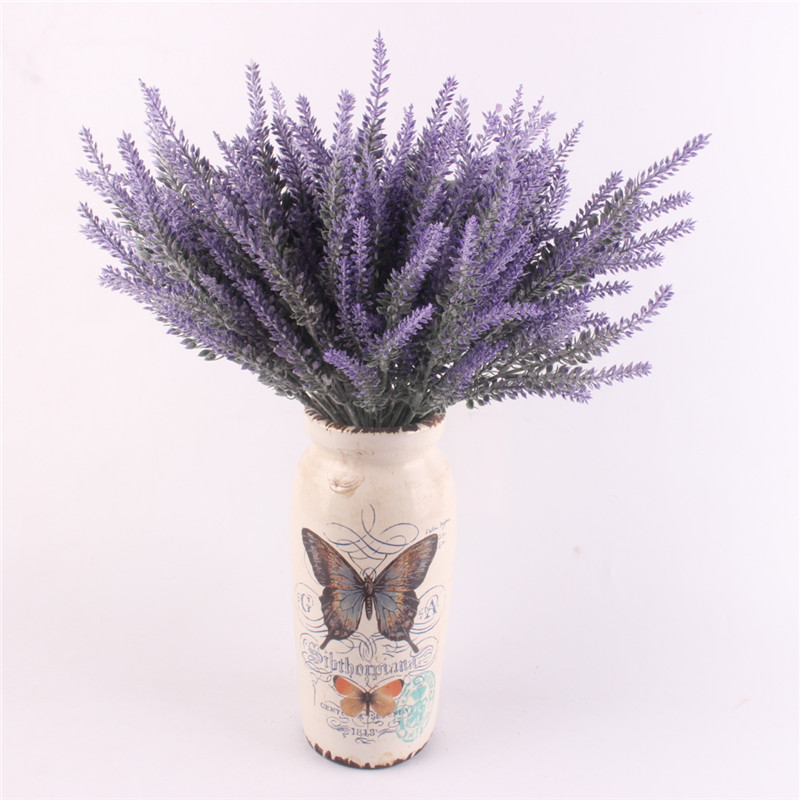 Image 2 - Romantic Provence decoration lavender flower silk artificial flowers grain decorative Simulation of aquatic plants-in Artificial & Dried Flowers from Home & Garden