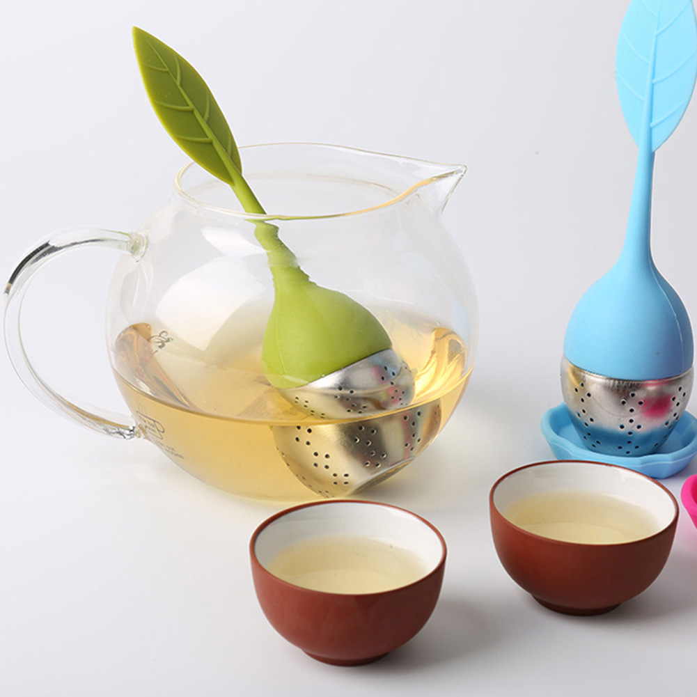 1pc New Tea Strainers Leaf Silicone With Food Grade Make Tea Bag Filter Tea Infuser Tools  Stainless Steel Tea Strainers Color5