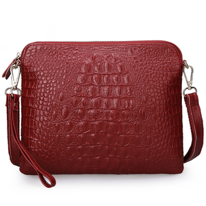 Image 4 - Ipad Mini Tassen Nieuwe Aankomst Tas Fashion Echt Lederen Handtassen Vrouwen Aligator Clutch Bag Messenger Schoudertassen A216
