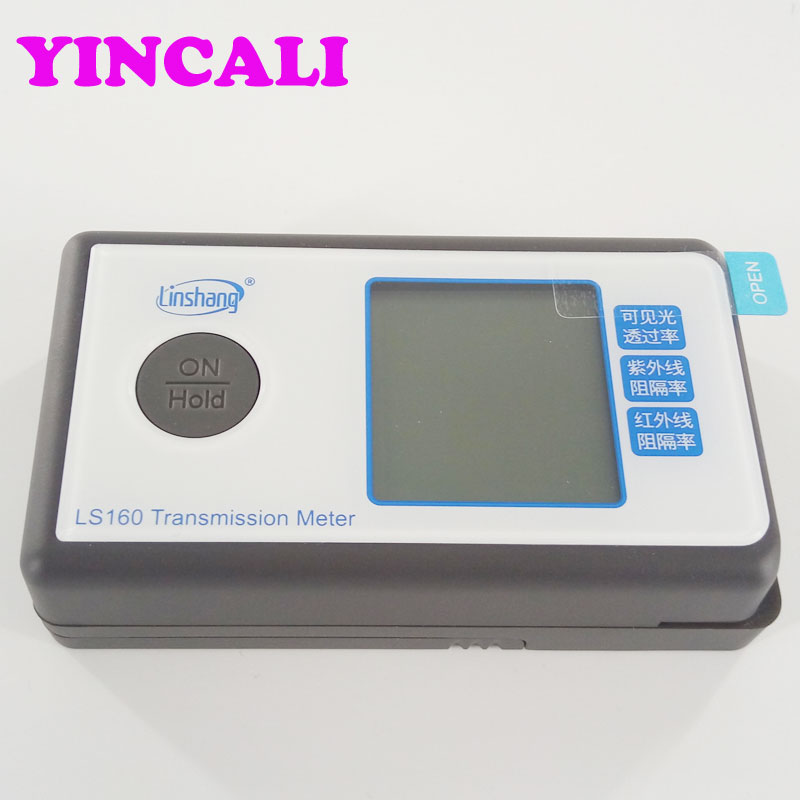 Three function in ONE device Window Tint Meter LS160 Portable Solar Film Transmission Meter Tester Resolution 1% ls160 solar film tester portable solar film transmission meter measure uv visible and infrared transmission values