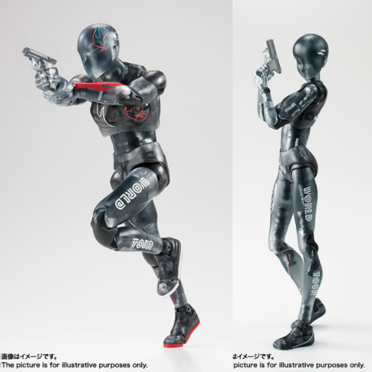 ALEN Anime figma Archetype Body Chan Body kun figma ferrite Black transparent Movable Art human body model pvc action figure toY
