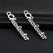 50 шт серебряные полые буквы Резные Подвески Болельщицы ювелирные изделия Diy фурнитура а2771