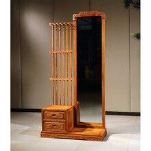 Ретро макияж туалетный столик со стулом из красного дерева набор мебели Ежик палисандр туалетный столик Китай мебель для спальни набор