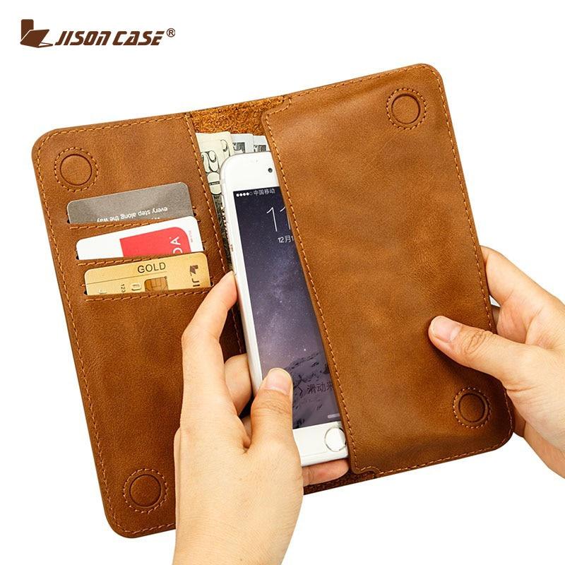 """bilder für Jisoncase Fall für iPhone 6 6 s 4,7 """"brieftasche Tasche Fundas für iPhone 6 plus 6 s plus 5,5"""" Pu-leder mit Kartensteckplatz Luxus-fall"""