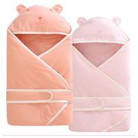 Newborn Baby Hug Quilt Swaddle Blanket Winter Cotton Stroller Sleeping Bag Kangaroo Sleep Sack Four Season Baby Carrier Cover