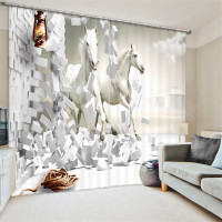 Curtains Horse print Luxury Blackout 3D Window Curtains For Living Room office Bedroom Drapes cortinas Rideaux Customized size