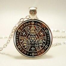 1pcs Sigil Magic WICCA Pendant Choker Statement Silver Necklace For Women Dress Accessories -Abaicer Jewelry HZ1