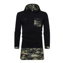 New Fashion Hoodies Brand Men Camouflage Stitching Sweatshirt Male Men'S Sportswear Hoody Hip Hop Shrink Autumn Winter Hoodie 00 цены