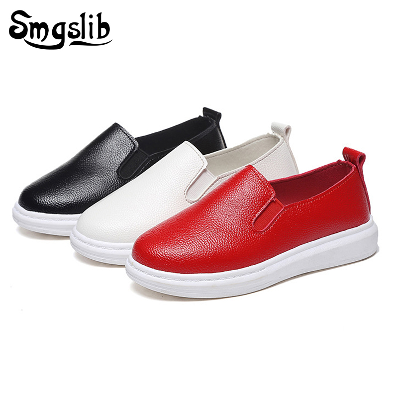 Girls Boys Casual Shoes kids Sneakers 2017 Spring Baby Boys leather Shoes breathable Kids Flat Single children sneakers ...
