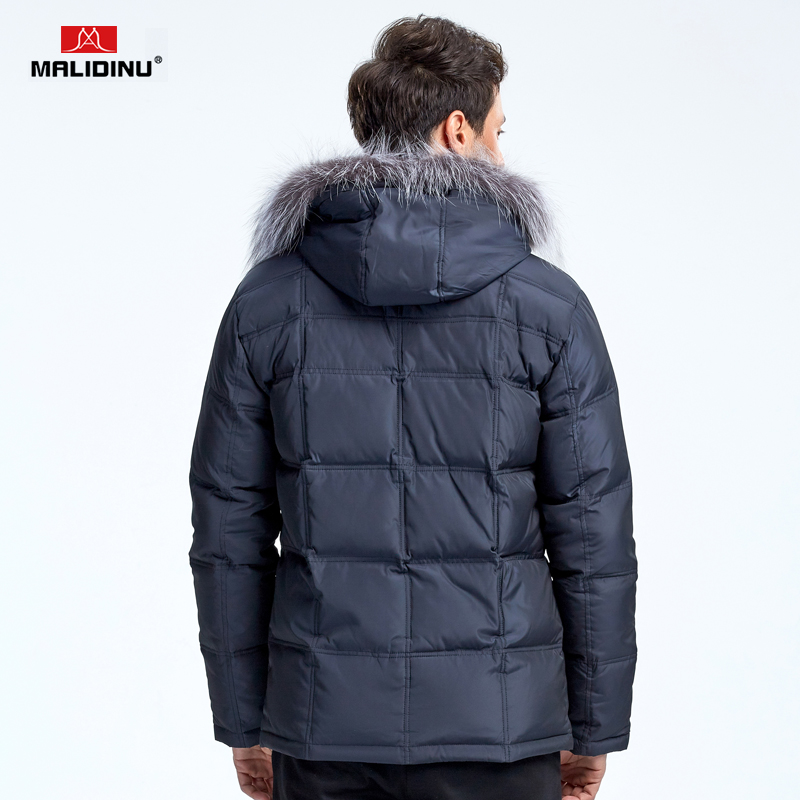 MALIDINU 2019 Down Jacket Men Winter Down Coats Real Fox Fur Down Parka Thick Warm Winter Coat Men 70 White Duck Down Plus Size in Down Jackets from Men 39 s Clothing
