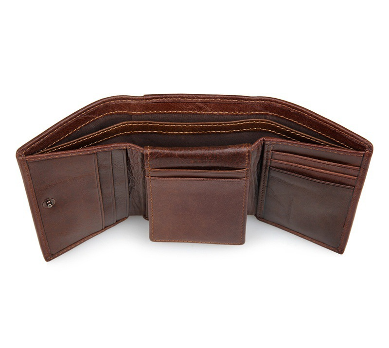High Quality Men Wallet Genuine Leather Large Capacity Coffee Male Purses Wallets Money Card Holders Short Wallet Man J8105 vicuna polo italy famous brand men wallet high quality pu leather trifold wallet large capacity short metal wallet for man