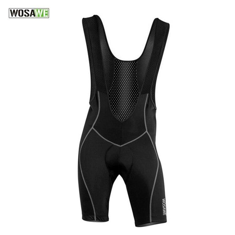 Цена за Wosawe мужская велоспорт bib шорты брюки велосипед жилет шорты одежда цикл износ одежда 3d подушка pad подтяжки колготки