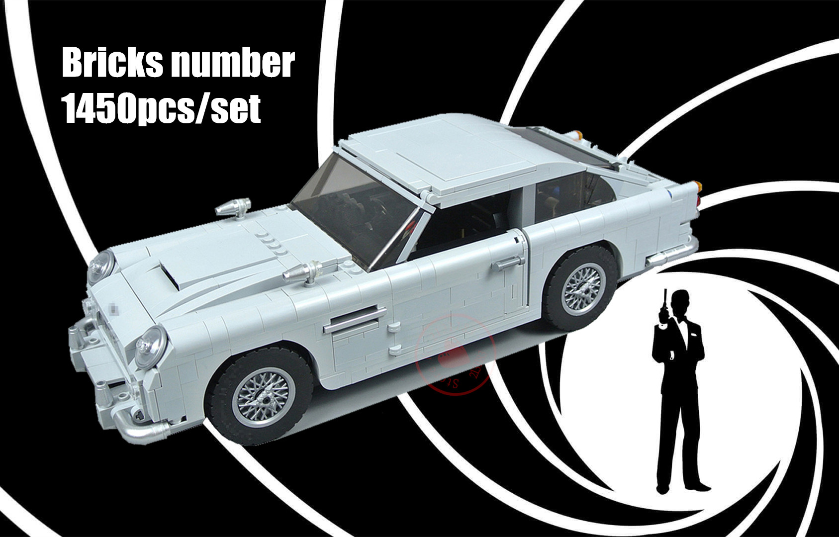 NEW Technic Expert James Bond fit legoings technic Creator Building Blocks Bricks DB5 Model kid diy toys 10262 Gift