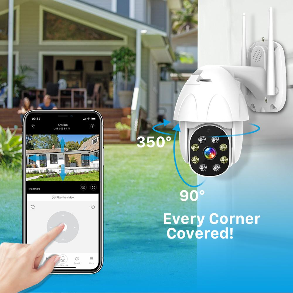 BESDER PTZ WiFi Camera 2MP Auto Tracking Waterproof CCTV Home Security IP Camera Cloud Storage 4X Digital Zoom Speed Dome Camera