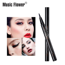 Music Flower Waterproof Liquid Eyeliner Pencil 24H Long-lasting Tear-proof Super Black Eyeliner Quick-Dry Makeup Drop shipping цена в Москве и Питере