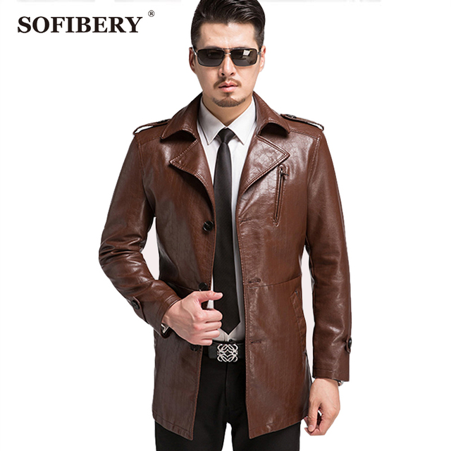 SOFIBERY Men's Leather Suede PU Leather Jackets Brand winter men's casual jacket  zipper jacket coat warm jacket 3XL2XL 1565