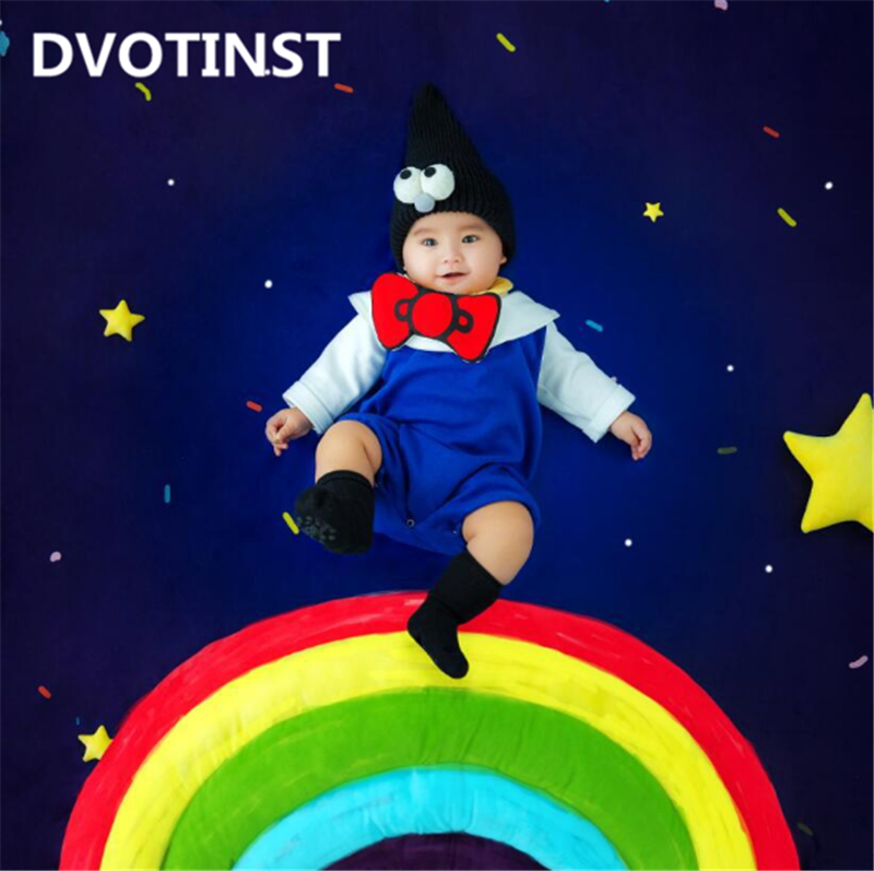 все цены на Dvotinst Baby Photography Props Rainbow Theme Background Costume Clothes Set Fotografia Accessory Studio Shooting Photo Props