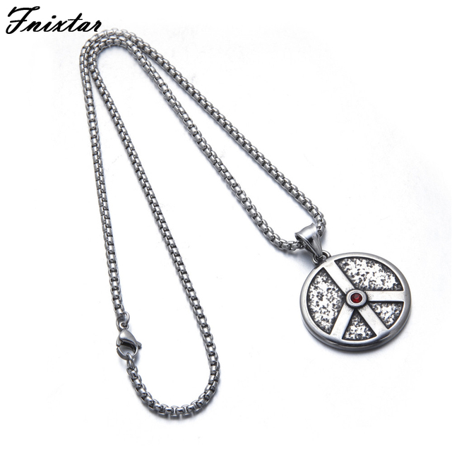 Fnixtar stainless steel peace sign pendant necklace for men jewelry fnixtar stainless steel peace sign pendant necklace for men jewelry making great quality red rhinestones necklace mozeypictures Image collections