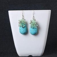925 STERLING SILVER CRYSTAL EARRINGS EAR HOOK collocation 16*28mm fashion women popularity earrings earrings