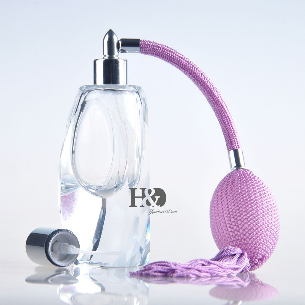 Free shipping 30ml Crystal Art Deco Cutting Style Perfume Spray Bottle Atomizer Refillable Glass Bottle wedding decoration