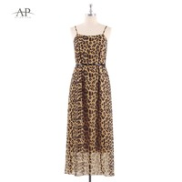 Causal Dresses 2018 Ever Pretty AS07300 Women S A Line Cheap Spaghetti Straps Leopard Printed Summer