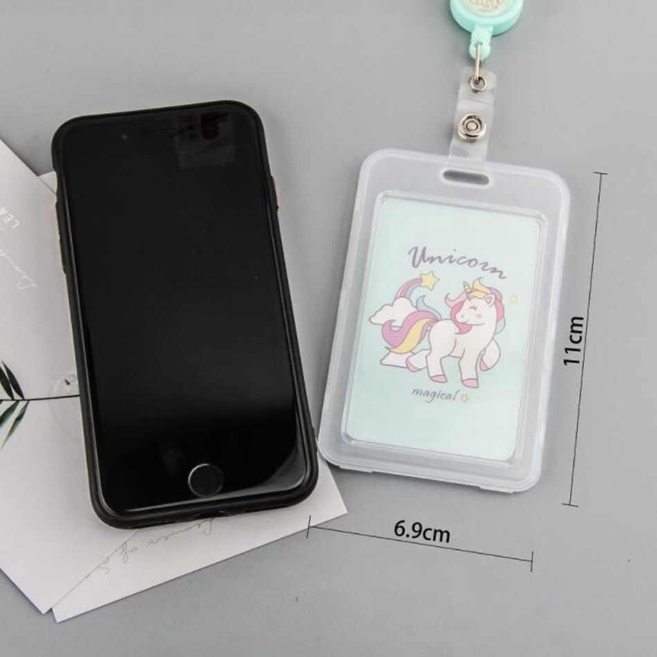 Fhadst Pelajar Kartun PVC Pemegang Kartu Kredit Unicorn Lucu Plastik Kaktus ID Card Case Dompet Anak-anak Hadiah Wanita Paspor Bank OT009