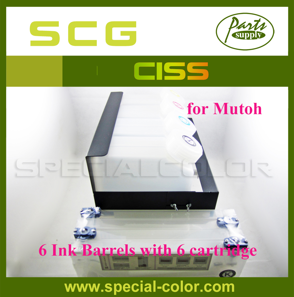Mutoh Brand New  Ink System without chip CISS Continuous Ink Supply (6X6) continuous ink supply system bulk ciss system for canon mg6310 6colors ciss with arc chips