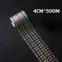 500m*4cm Holographic Nail Foils Starry Sky Glitter Foils Nail Art Transfer Foil Sticker Paper Nail Wraps DIY Nail Foil Tools