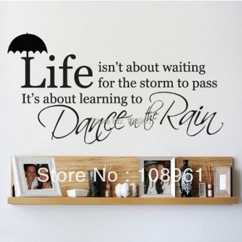Quote Life Isn't About Waiting For The Storm To Pass Vinyl