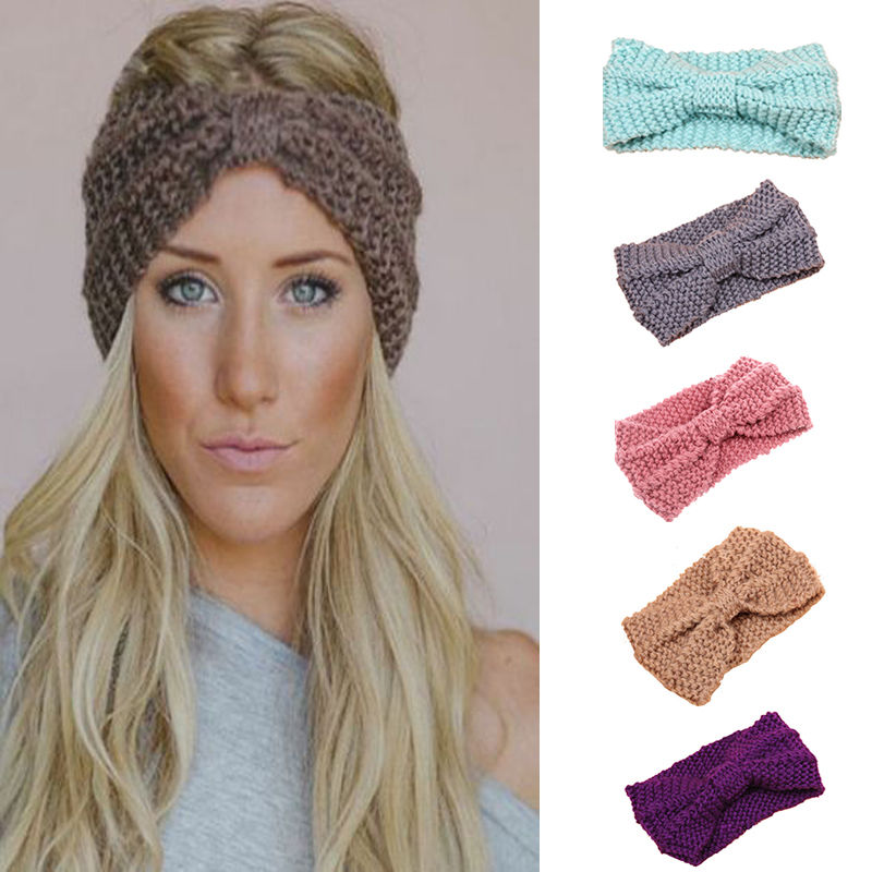 Womens Knit Headband Crochet Winter Warm Lady Hair Ribbon