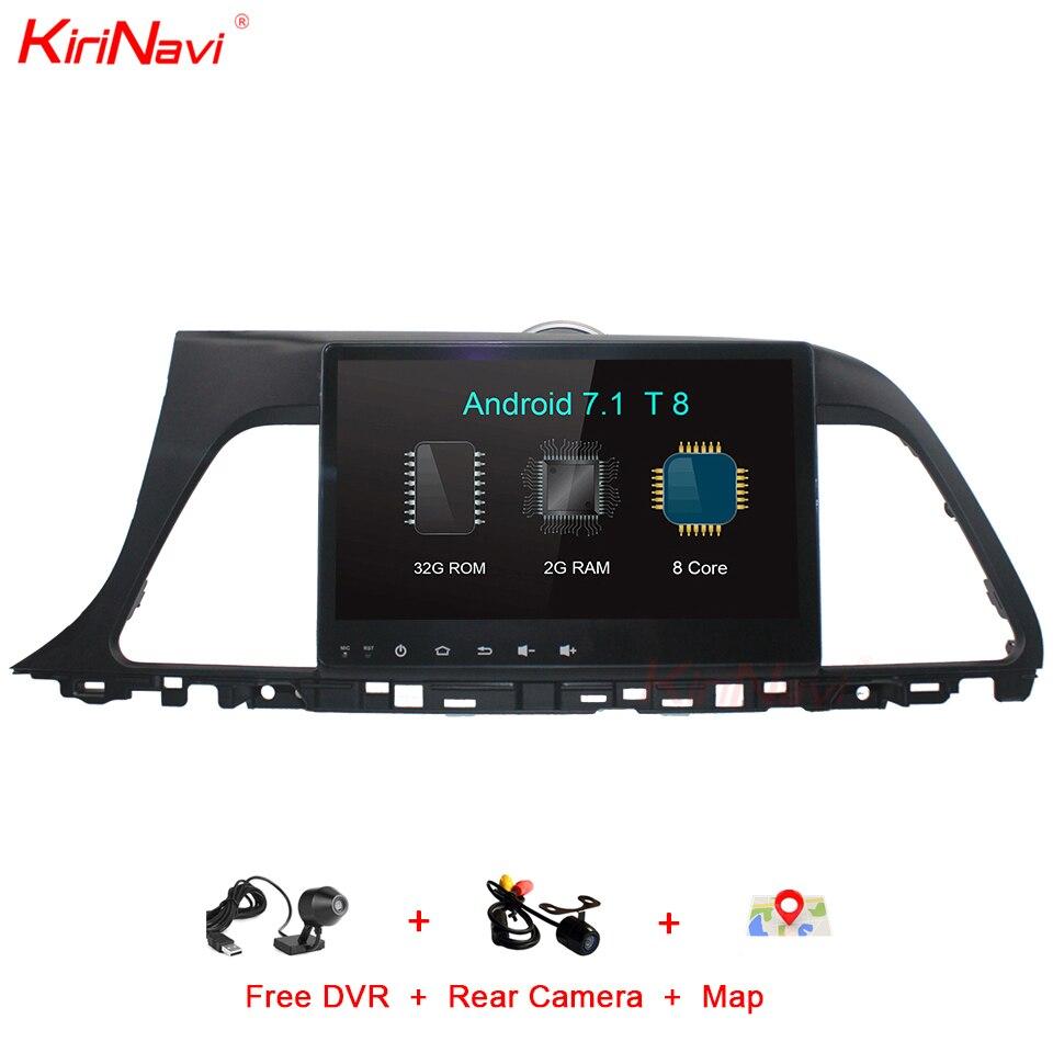 KiriNavi Octa Núcleo Android 7.1 Tela de Toque Do Carro DVD GPS Para Hyundai Sonata Car System Audio Stereo Multimedia Navegação GPS RDS