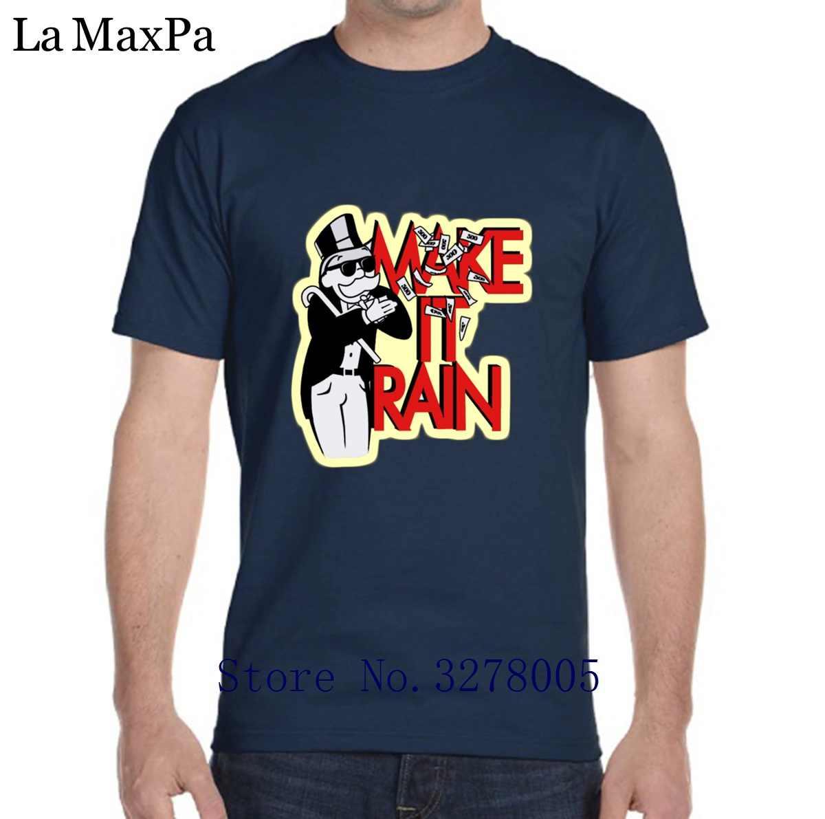 eb51d9494 Printed T Shirt Men Super Monopoly Life Men's Tshirt Vintage 100% Cotton  Camisas Para Hombre