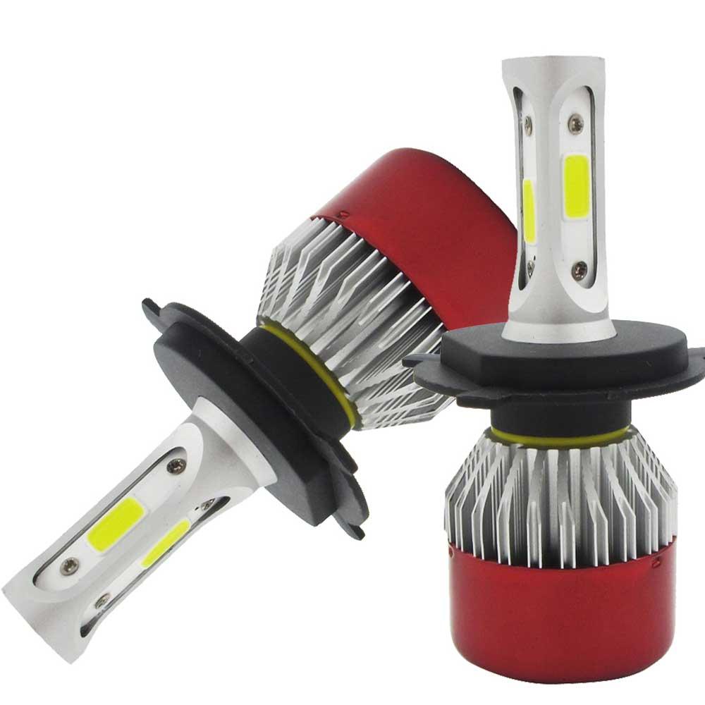 2 ədəd LED Headlight Light H4 Salam / Aşağı şüa LED COB Uzaq - Avtomobil işıqları - Fotoqrafiya 2