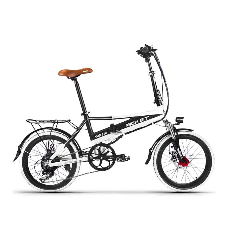 Richbit RT-700 складной 48 В 8AH Электрический велосипед 20 дюймов Мини Электрические велосипеды 250 Вт MTB мотоциклов с USB сотовый телефон зарядное устр…