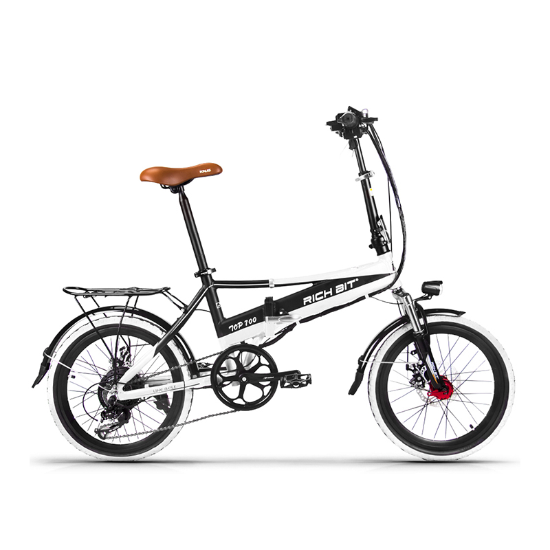 Richbit RT-700 Folding 48V 8AH Electric Bike 20 inch Mini Electric Bicycle 250W Mtb ebike with USB Cell Phone Recharger Holder richbit road