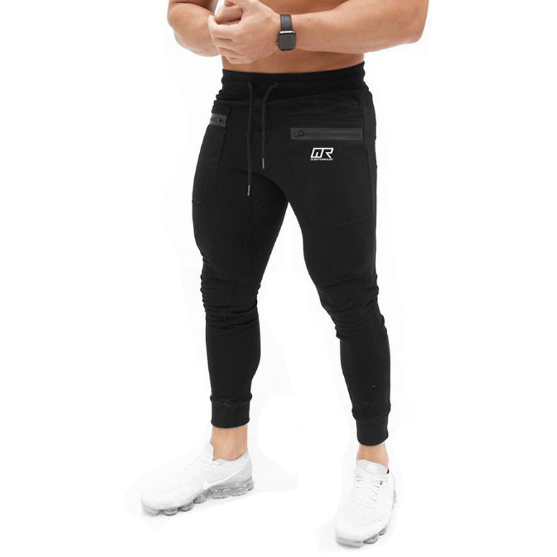 2018 Newest Mens Cotton Sweatpants Man Autumn Winter Gyms Fitness Trousers Joggers Workout Brand Pencil Pants Sportswear Skinny