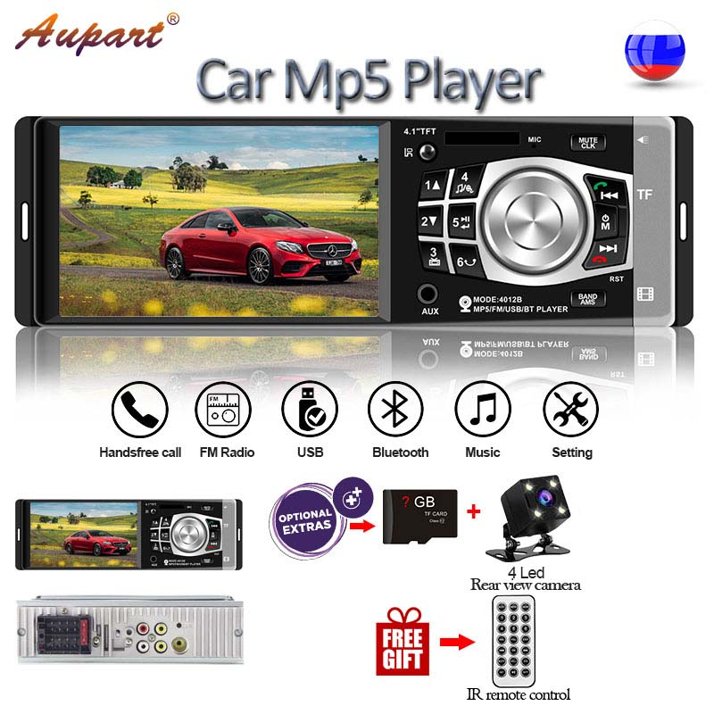 universal multimedia for car 1 Din Car Radio 4.1 inch mp5 player with steering wheel remote control bluetooth rear camera-in Car Multimedia Player from Automobiles & Motorcycles