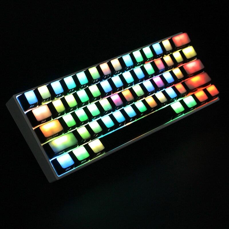 104 clés tout-Transparent Keycaps ABS côté imprimé épais Keycaps RGB Machanical clavier commutateur pour Cherry MX pour Filco