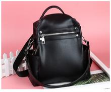 1 piece New PU Shoulder Bag Multi-purpose Casual Fashion Ladies Backpack Travel For Girls schoolbag