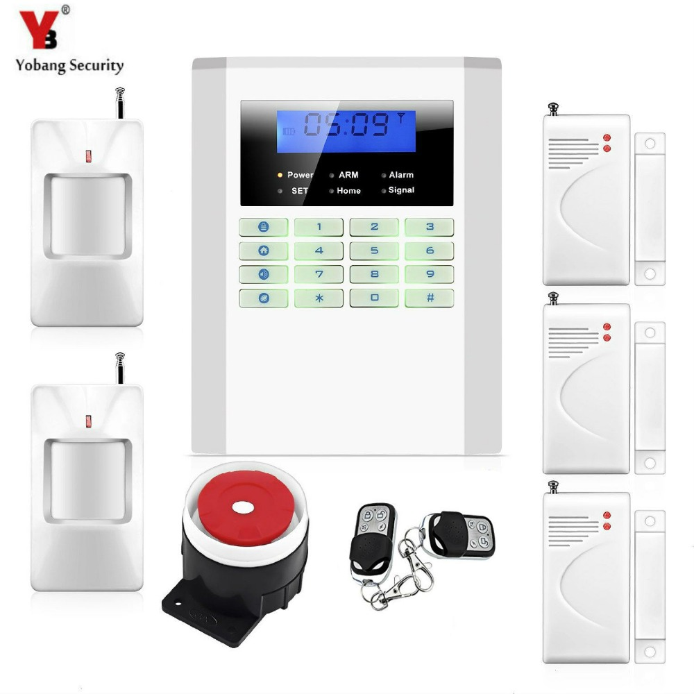 Yobang Security,SMS GSM Security Alarm Wireless GSM PSTN Alarm System 433MHz GSM Sistema De Alarme Home With 99 Wireless Zones wireless gsm pstn auto dial sms phone burglar home security alarm system yh 2008a