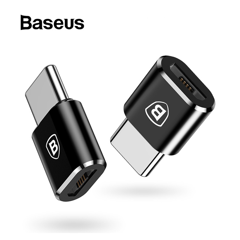 Baseus OTG Adapter USB Type C Male To Micro USB Female Converter Fast Charge Data Transfer Adapter For Macbook Type C Connector