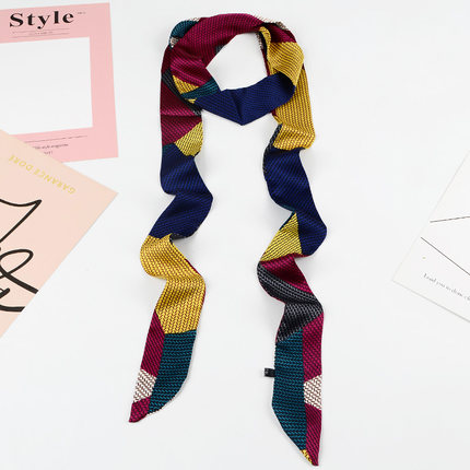 Women 39 s silk scarves in spring and autumn with slender and long scarves Scarf Belt Ribbon Decorative Super Long Ribbon in Women 39 s Ties amp Handkerchiefs from Apparel Accessories