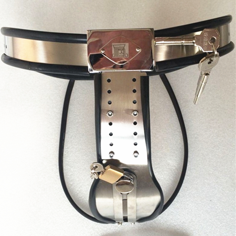Chastity Belt Type Shield Y Thin Steel plate With Anal Plug Can be Adjusted Waist Adjustable Stainless Steel Sex Toy G7-5-23