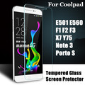 Tempered Glass Screen Protector For Coolpad E501 E560 F1 F2 F3 X7 Y75 Note 3 Porto S Cover Case Protective Film