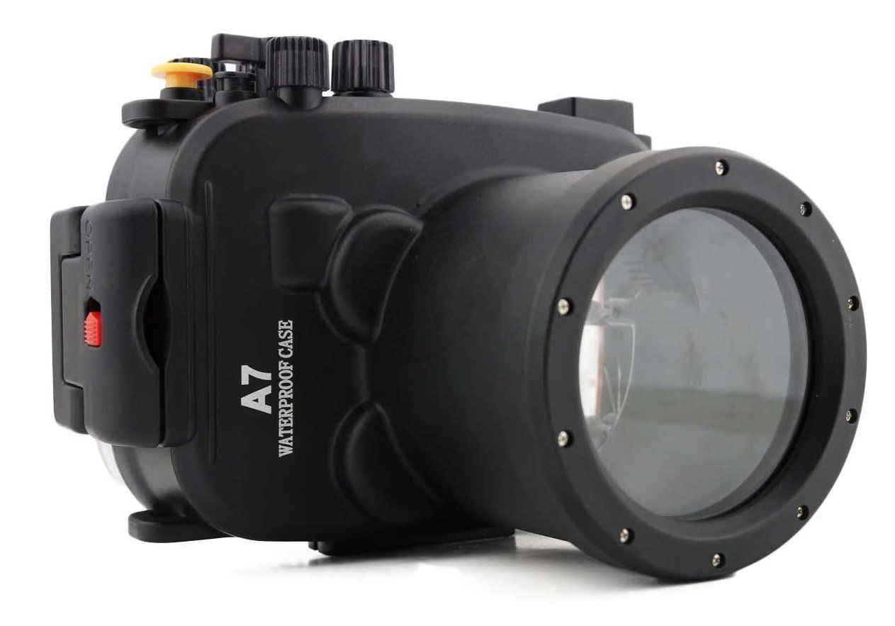Waterproof Underwater Housing Camera bag Case for Sony A7/A7r/A7s 28 70mm Lens